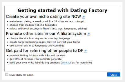 Love me dating factory