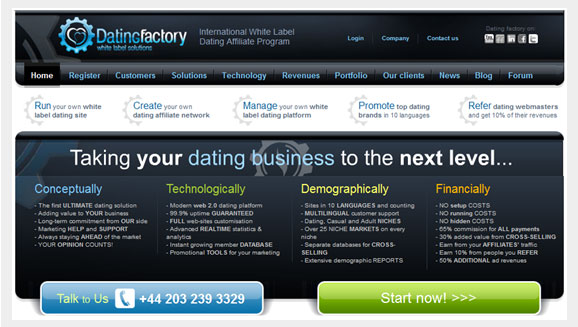 white label dating affiliate Make money online by monetising your traffic or setting up a side project with white label dating we create the dating site, you drive the traffic.