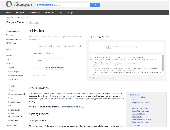 Google Plus Dev Platform