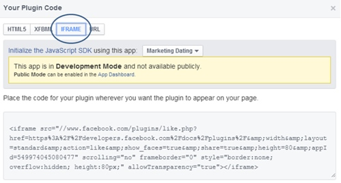 Facebook Button Code