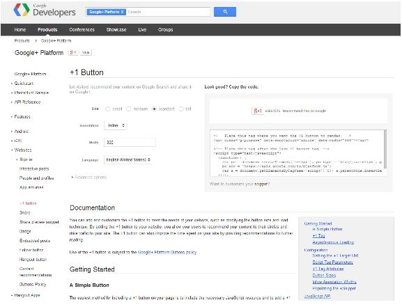 Google Plus Dev Platform