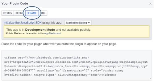 Facebook Button Code