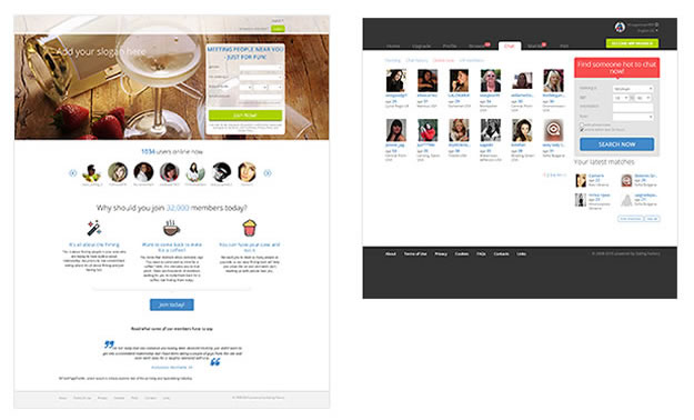 New Responsive Dating Factory Templates